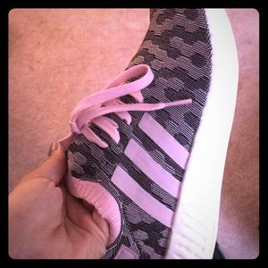 Brand new adidas boost in black/pink print